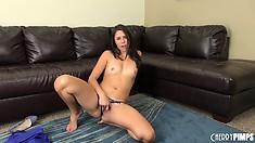Anna Morna gets her little blue dress off and gets her freak on